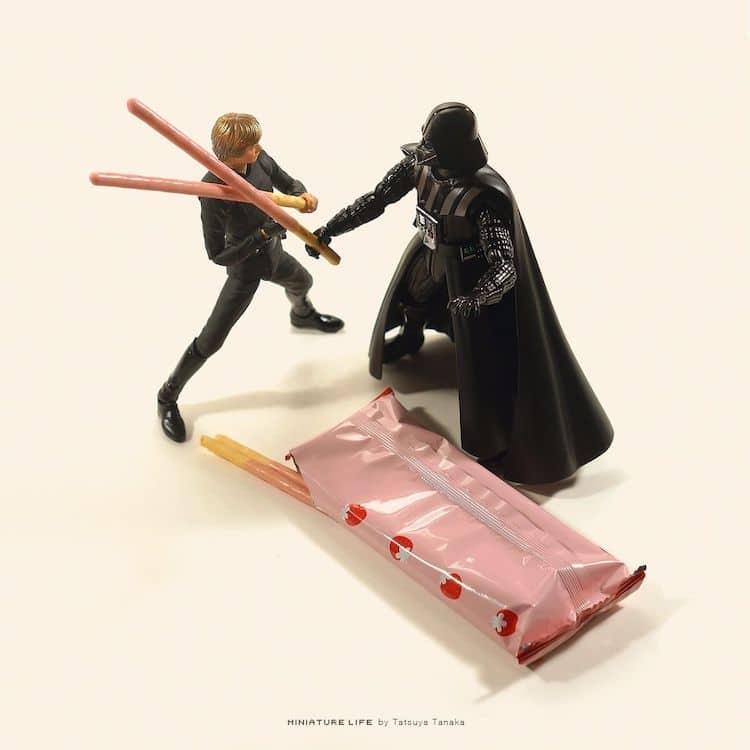 Miniature Star Wars Art by Tatsuya Tanaka