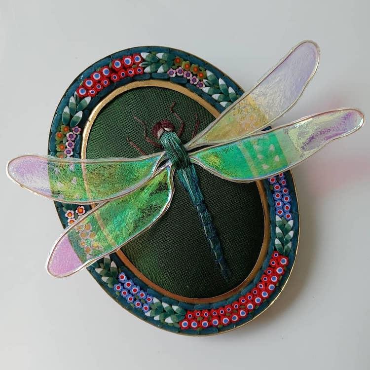 bordado tridimensional por Megan Zaniewski