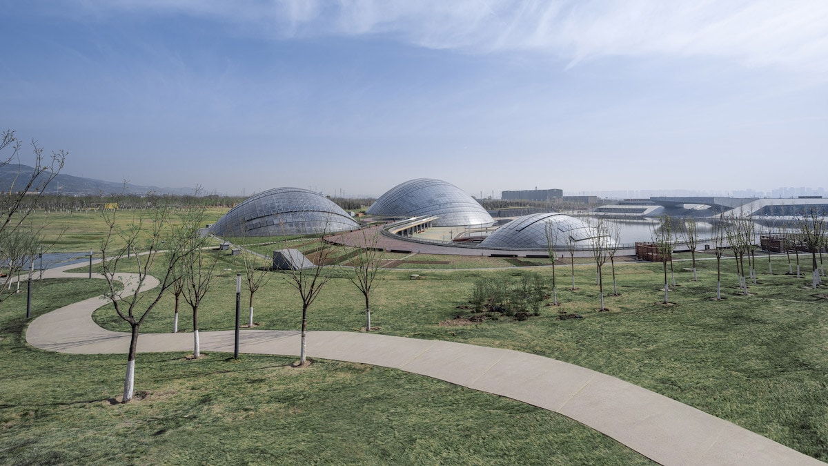 Distant Shot of Taiyuan Botanical Garden by Delugan Meissl Associated Architects