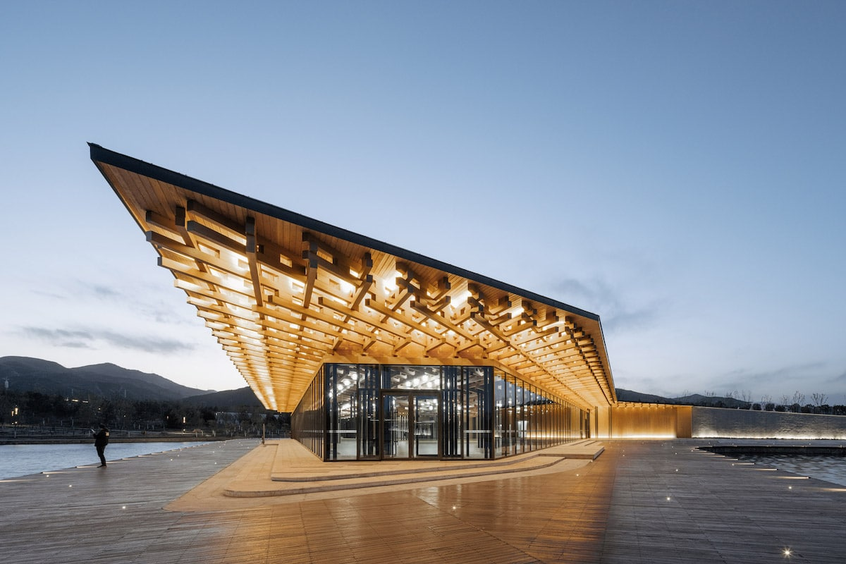 Exterior Shot of Taiyuan Botanical Garden by Delugan Meissl Associated Architects