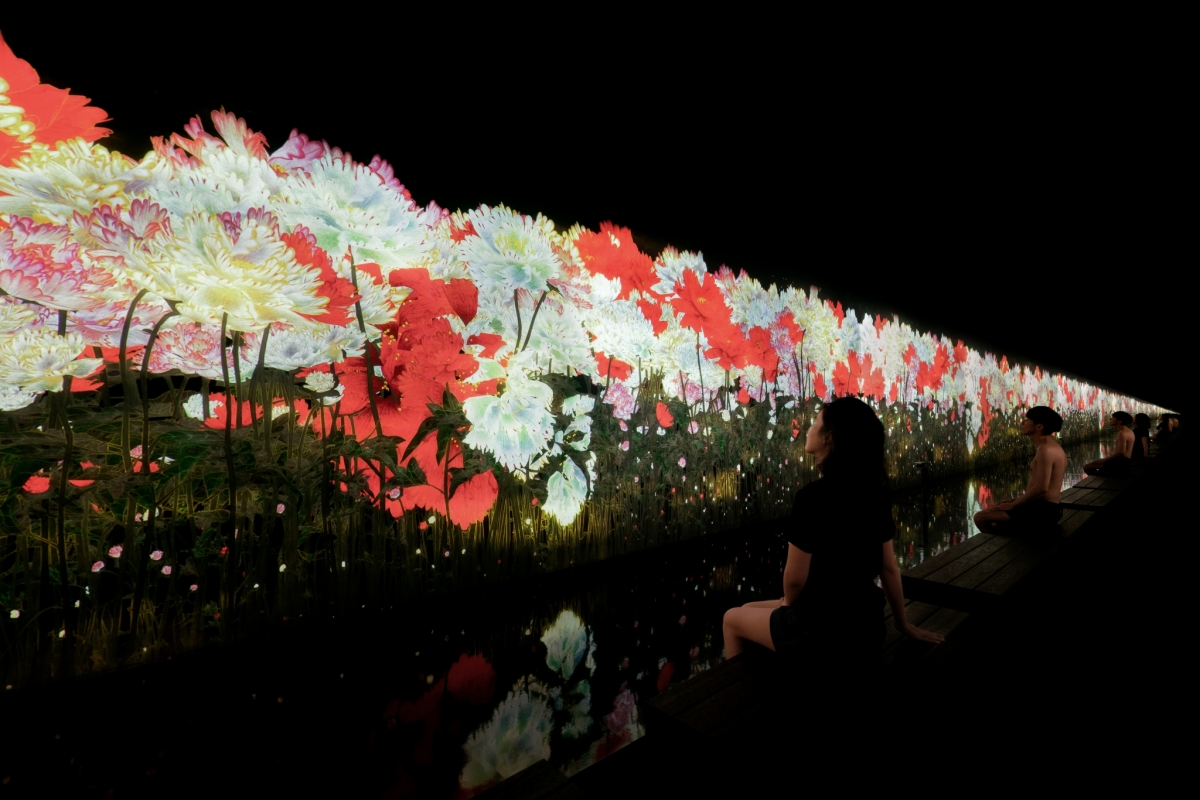 teamLab Reconnect Sauna and Art Experience Tokyo