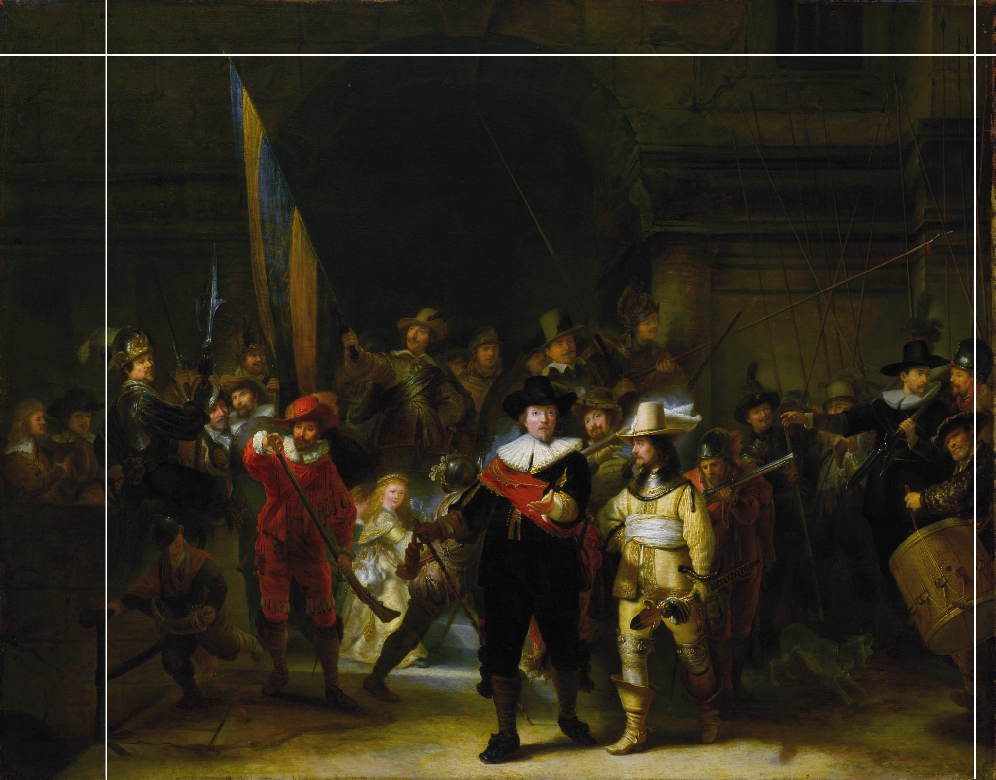 Copy of the Night Watch by Gerrit Lundens