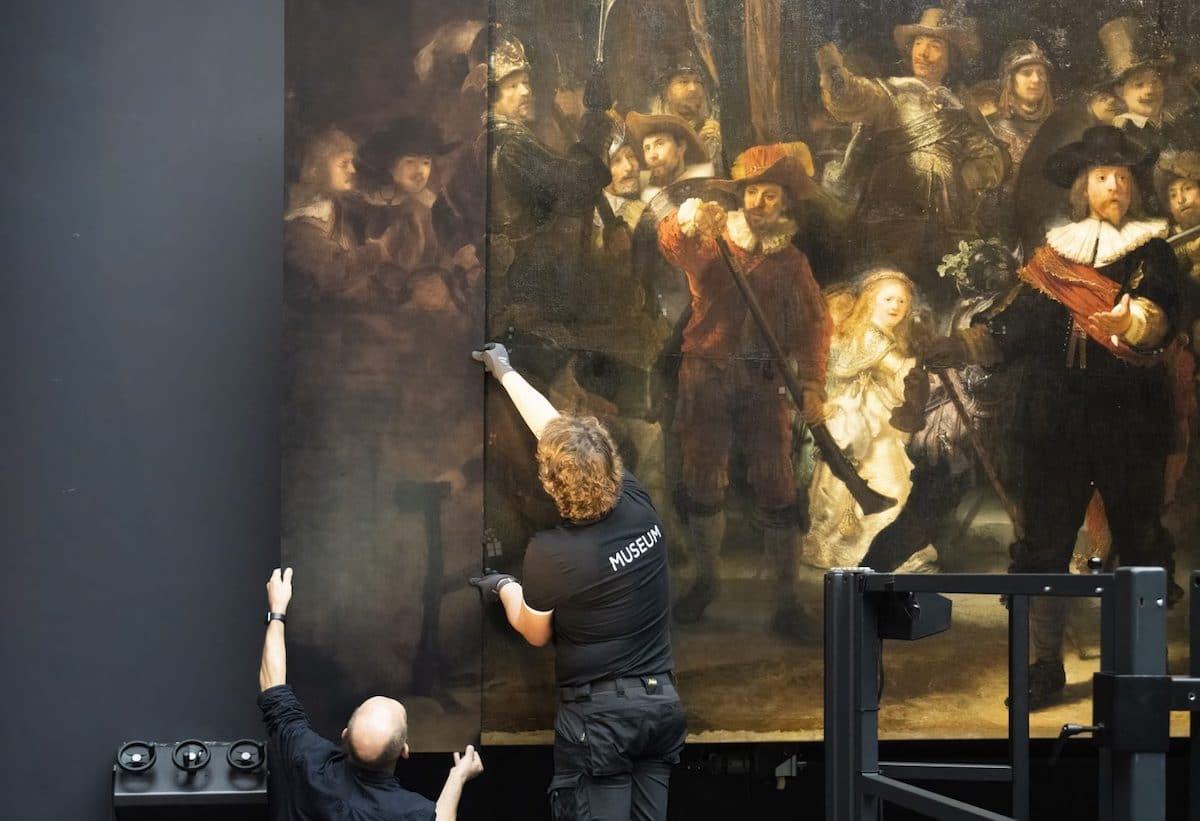 Restoration of the Night Watch at the Rijksmuseum