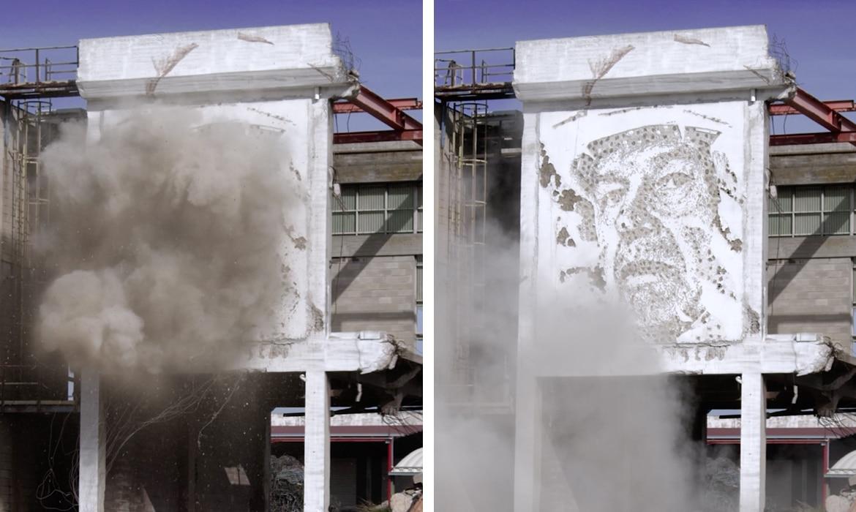 Explosive Street Art by Vhils