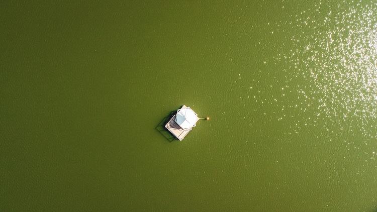 Aerial View of Vlotkamp - Pop Up Raft Hotel