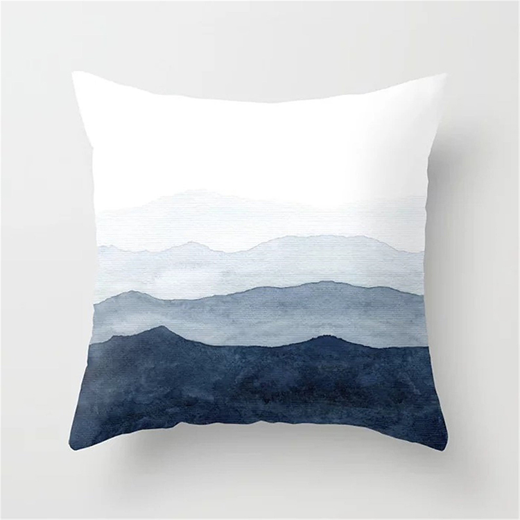 Watercolor Mountains PIllow Cover