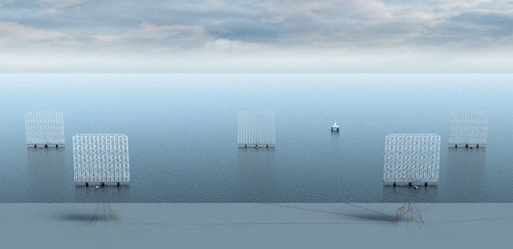 Mockup of Wind Turbines by Wind Catching Systems