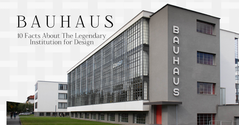 Bauhaus Architecture and Design on My Modern Met Infographic