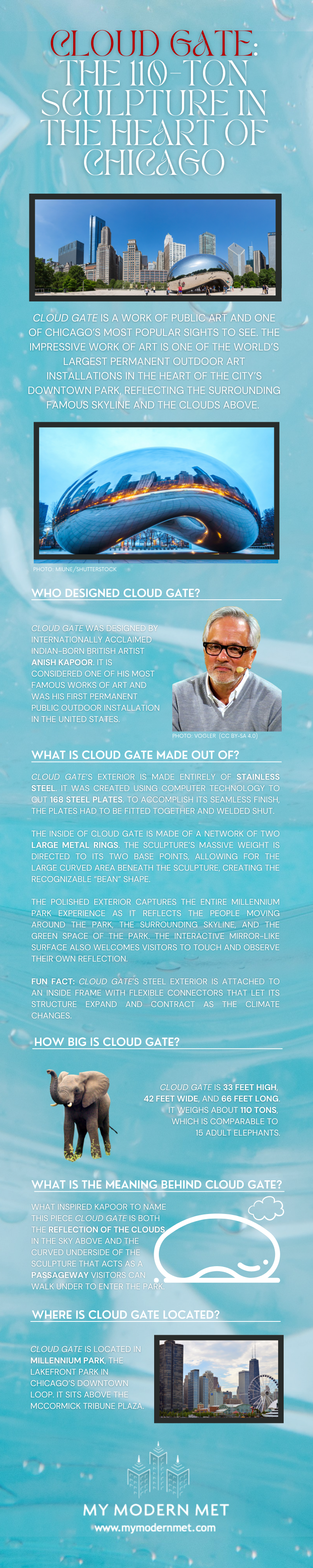 Cloud Gate Infographic