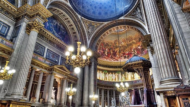 Interior of the Église de la Madeleine Paris