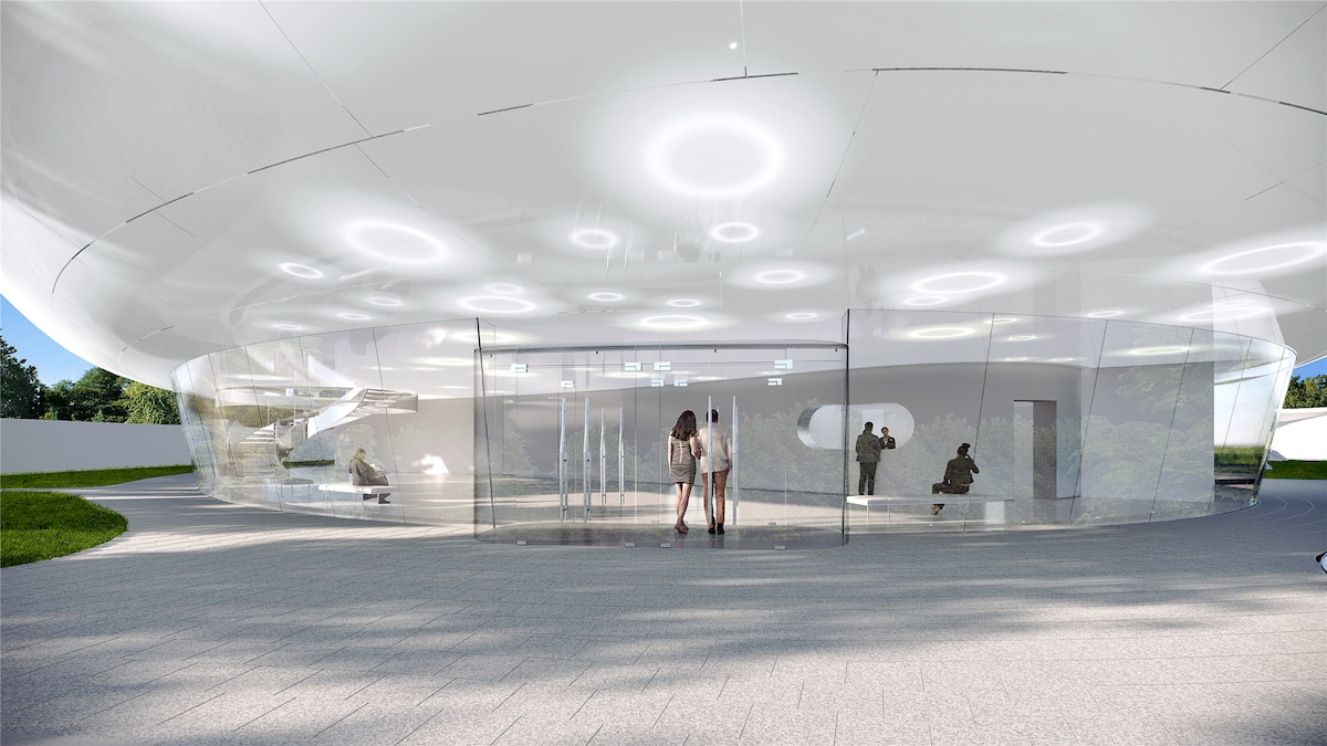 Interior View of the Aranya Cloud Center by MAD Architects