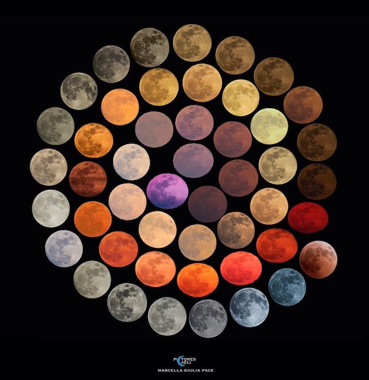 Colors of the Moon