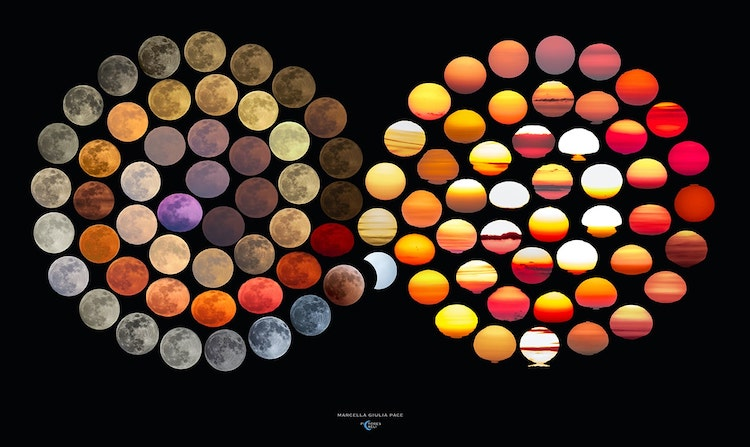 Infinity Photos of Moon and Sun