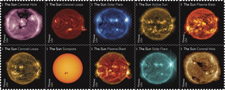 NASA Sun Stamps