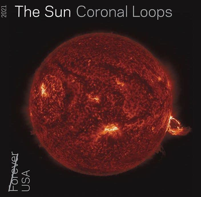 The Sun Coronal Loops Stamp