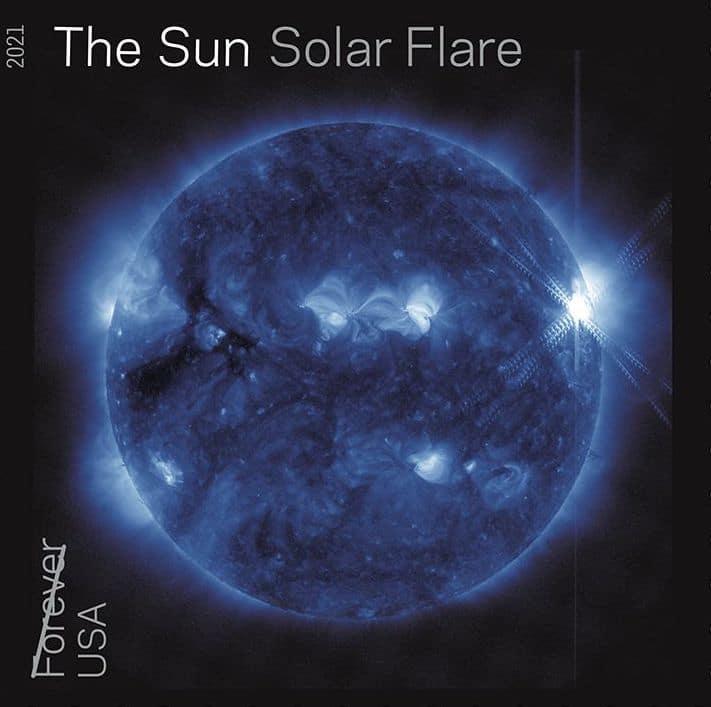 The Sun Solar Flare Stamp