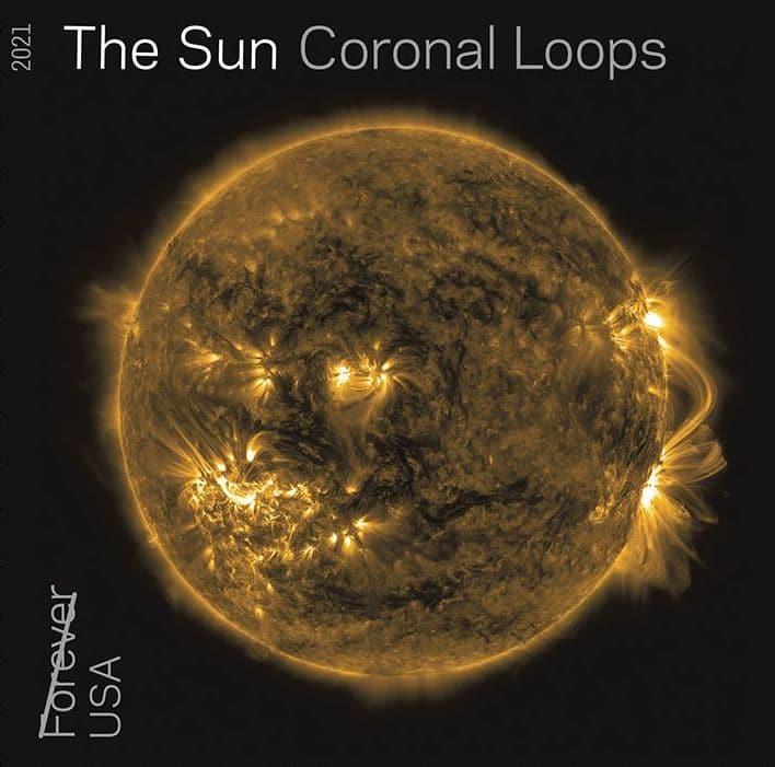 Coronal Loops Sun Stamp