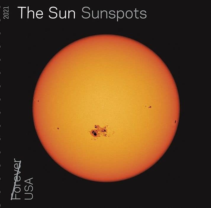 Sunspots of the Sun Stamp