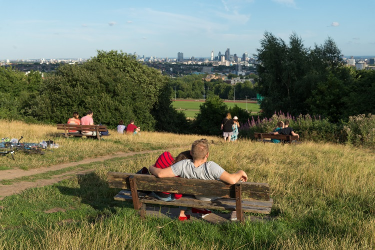 vue de Parliament Hill à Hampstead Heath
