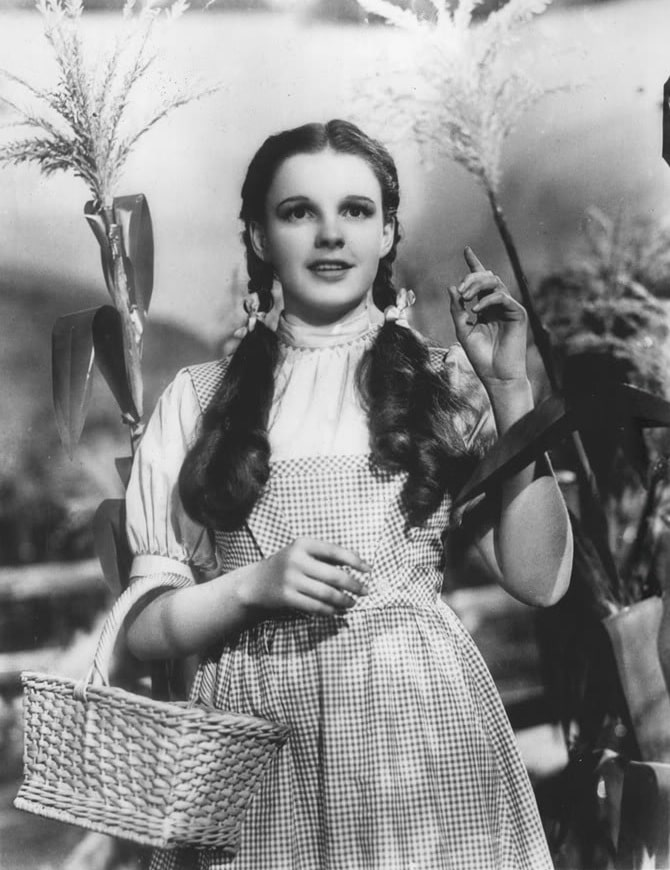 Wizard of Oz, Judy Garland's Iconic Dress, Press Shot