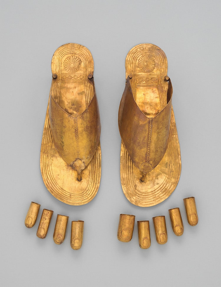 Ancient Egypt Gold Sandals and Toe Stalls
