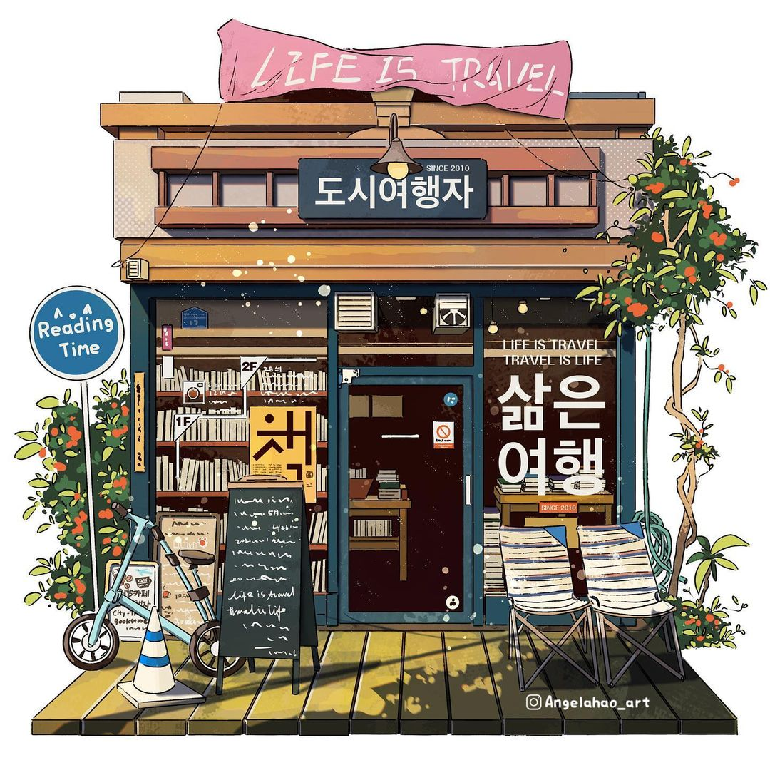 Storefront Illustrations by Angela Hao