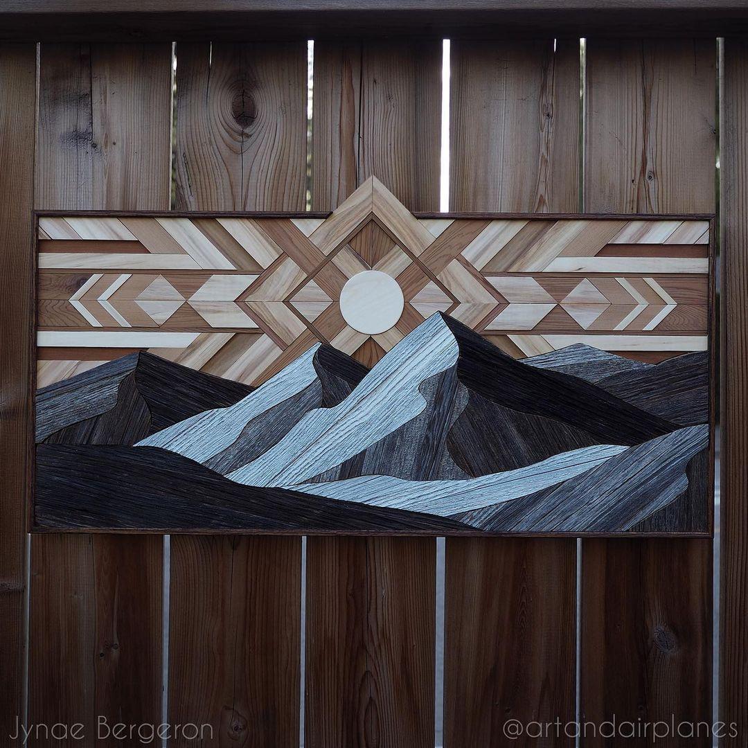 Reclaimed Wood Wall Art by Jynae Bergeron