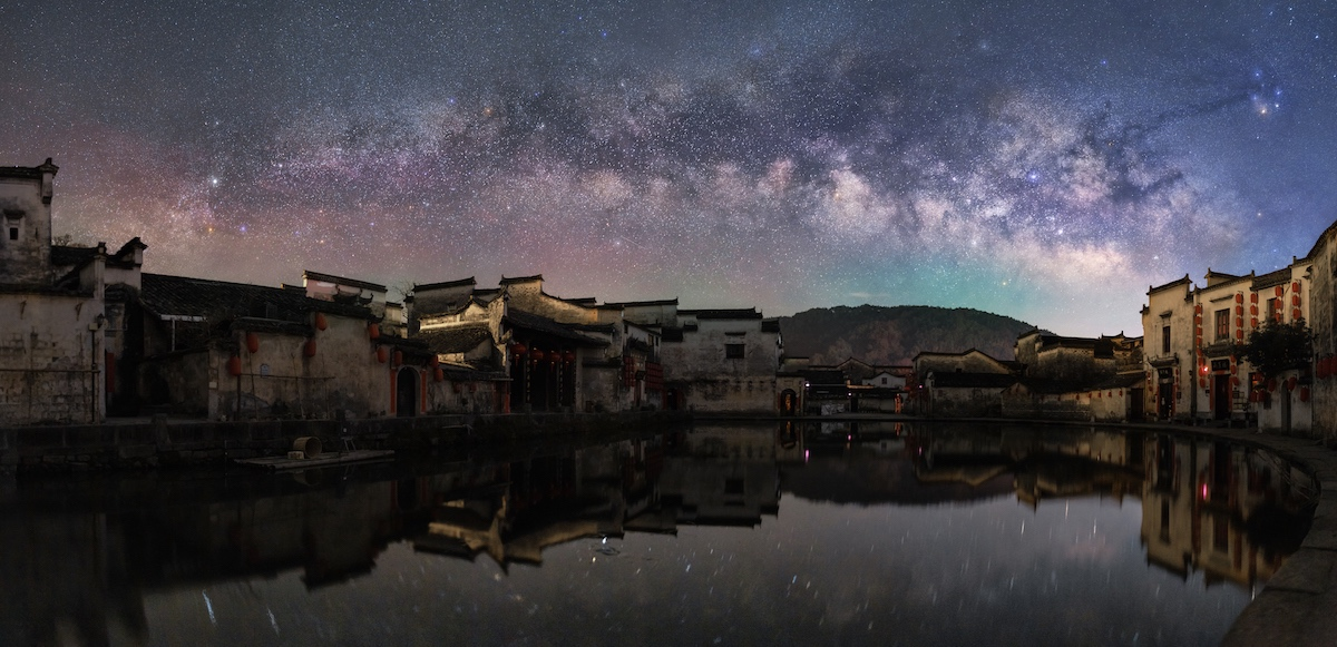 """""""The Milky Way on the Ancient Village"""" par Zhang Xiao"""