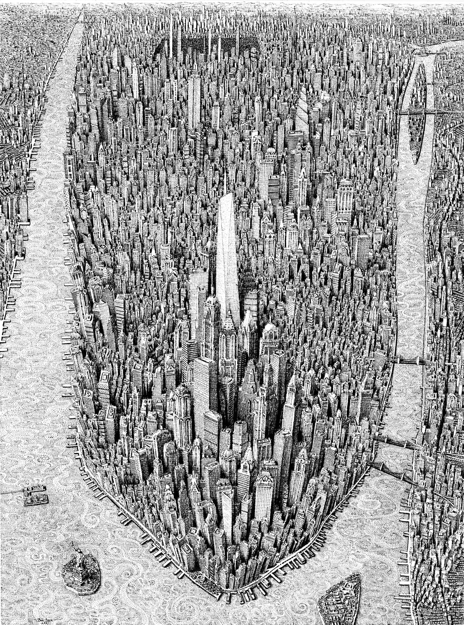 Architecture Drawing by Benjamin Sack