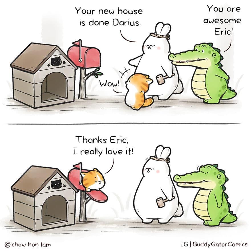 Buddy Gator Comics by Chow Hon Lam