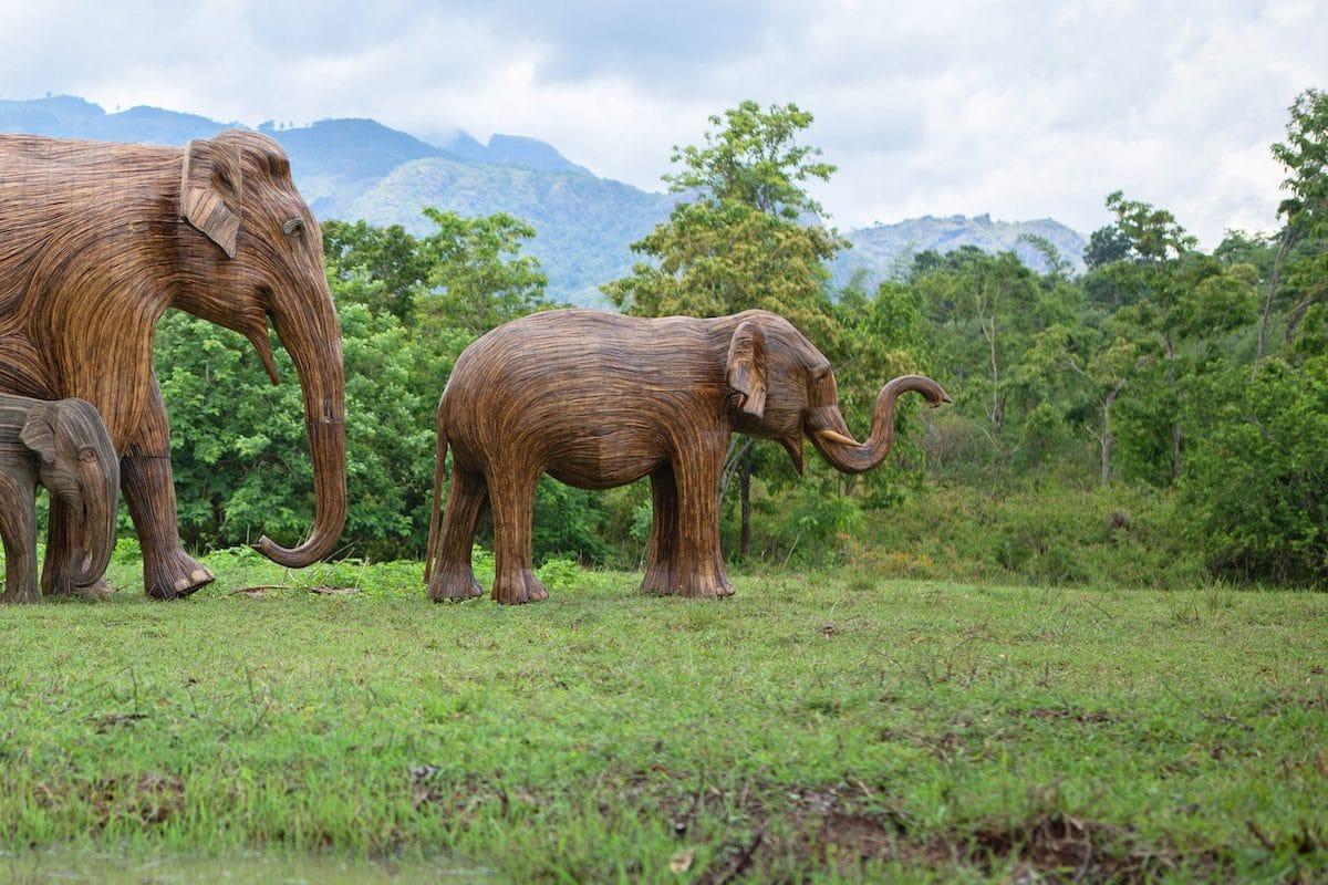 Lantana Elephant Sculpture Herd Migration