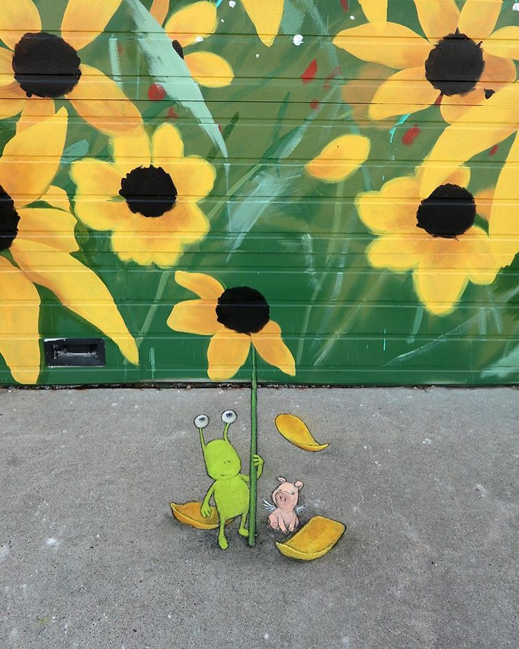 Optical Illusion Street Art by David Zinn