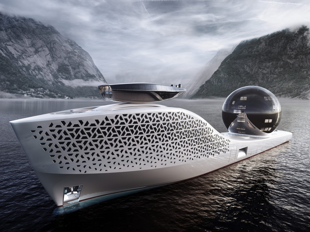 Earth 300 Mega Yacht for Research on the High Seas