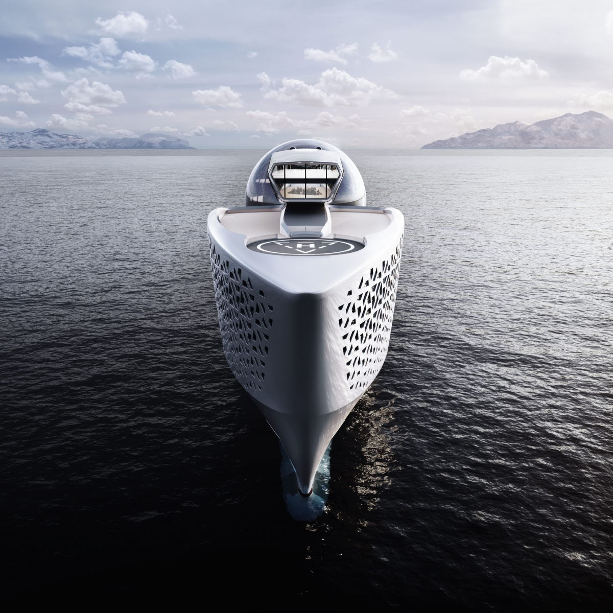 Earth 300 Nuclear Powered Superyacht for Scientific Research