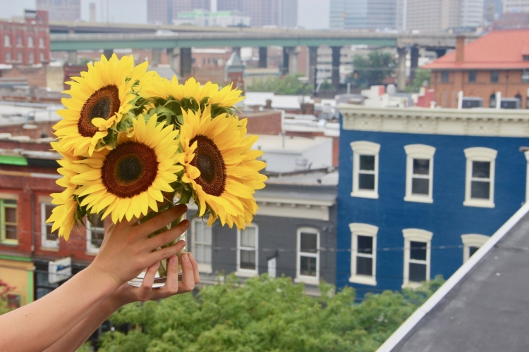 The Simple Sunflower Reuses Wedding Flowers for Hope and Healing