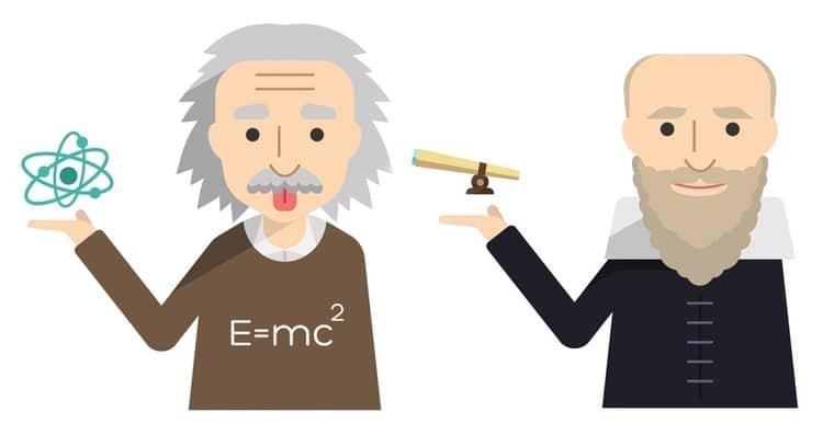 Albert Einstein and Galileo Icons