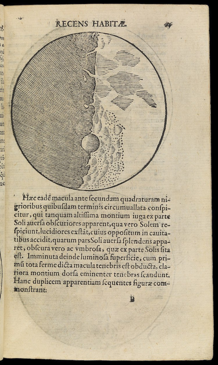 Galileo's Drawing of the Moon