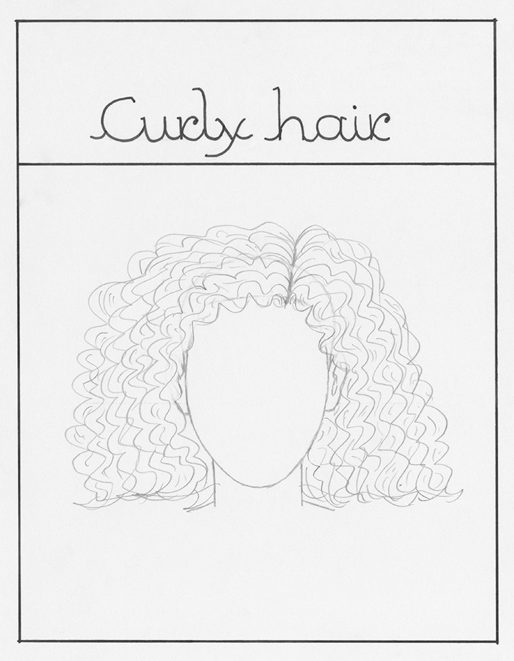How to Draw Curly Hai