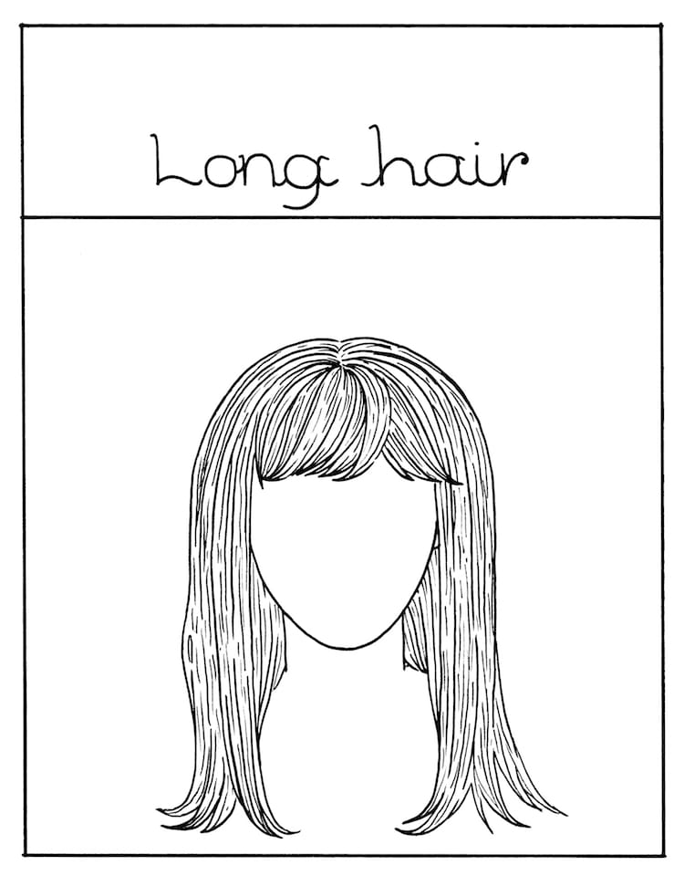 How to Draw Long Hair