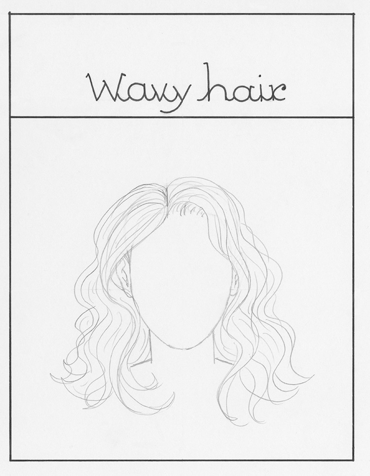 How to Draw Wavy Hair