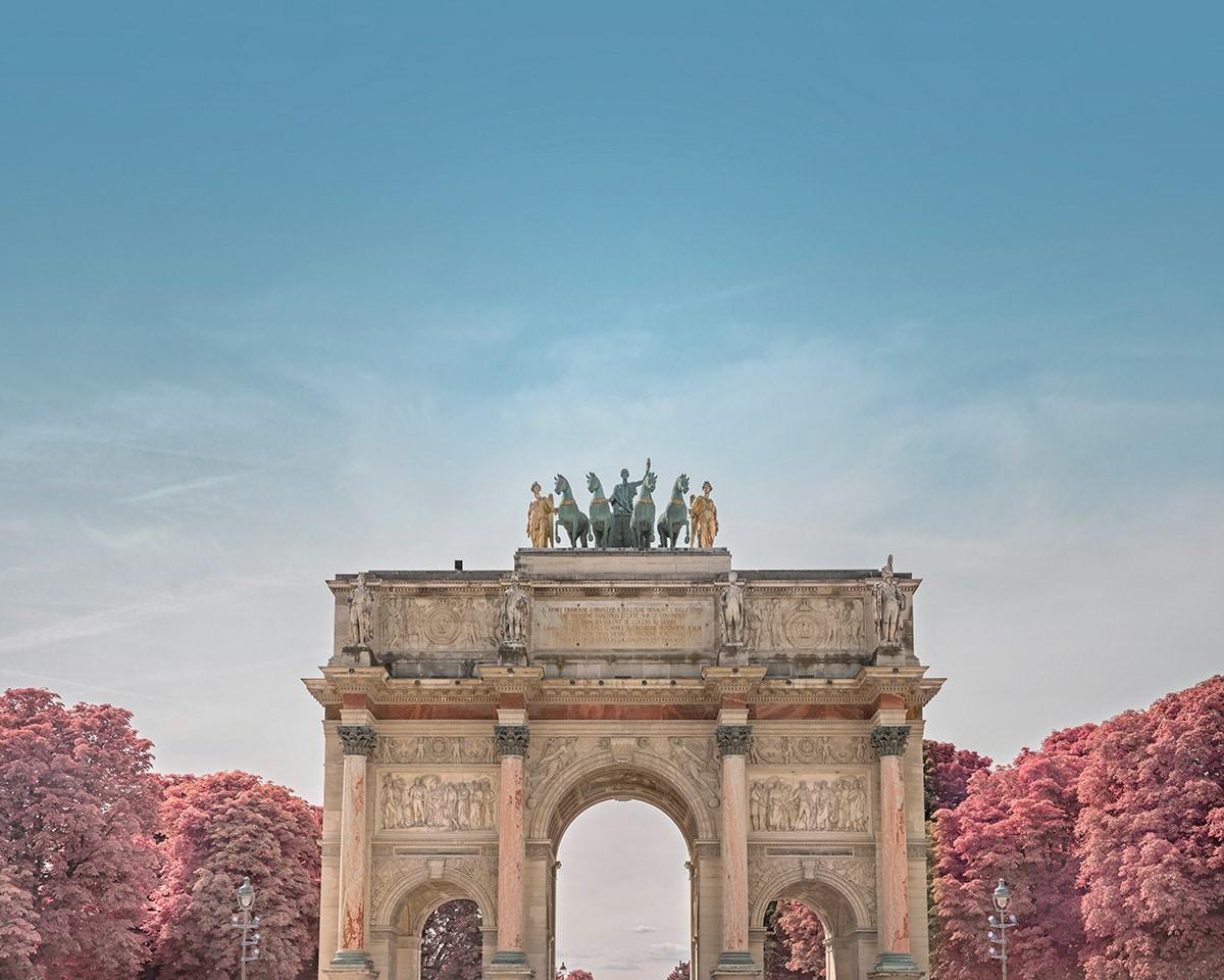 Arch de Triomphe in Infrared