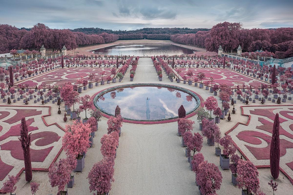 Versailles Gardens in Infrared