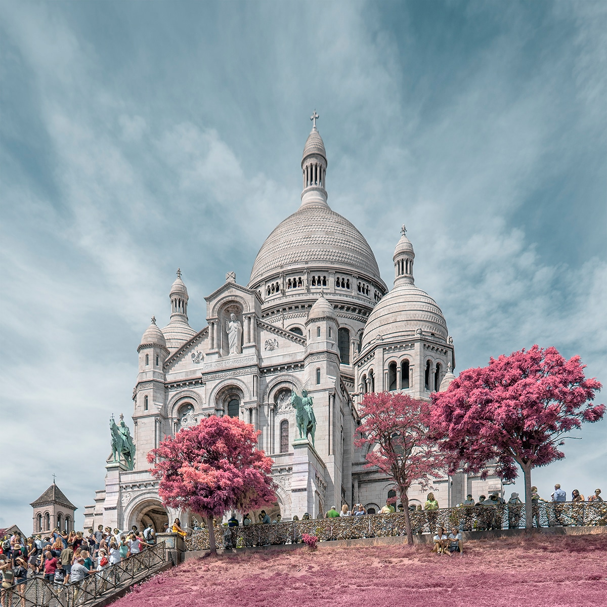 Infrared Photo of Sacre Coeur