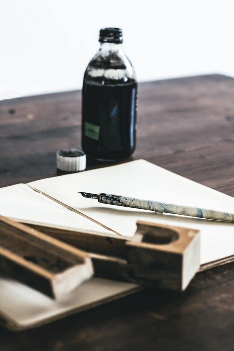 Ink and Nib With Sketchbook