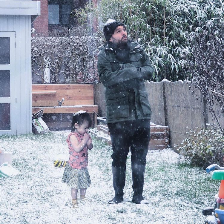 Photoshopped Image of Dad and His Kid Doing Something Dangerous
