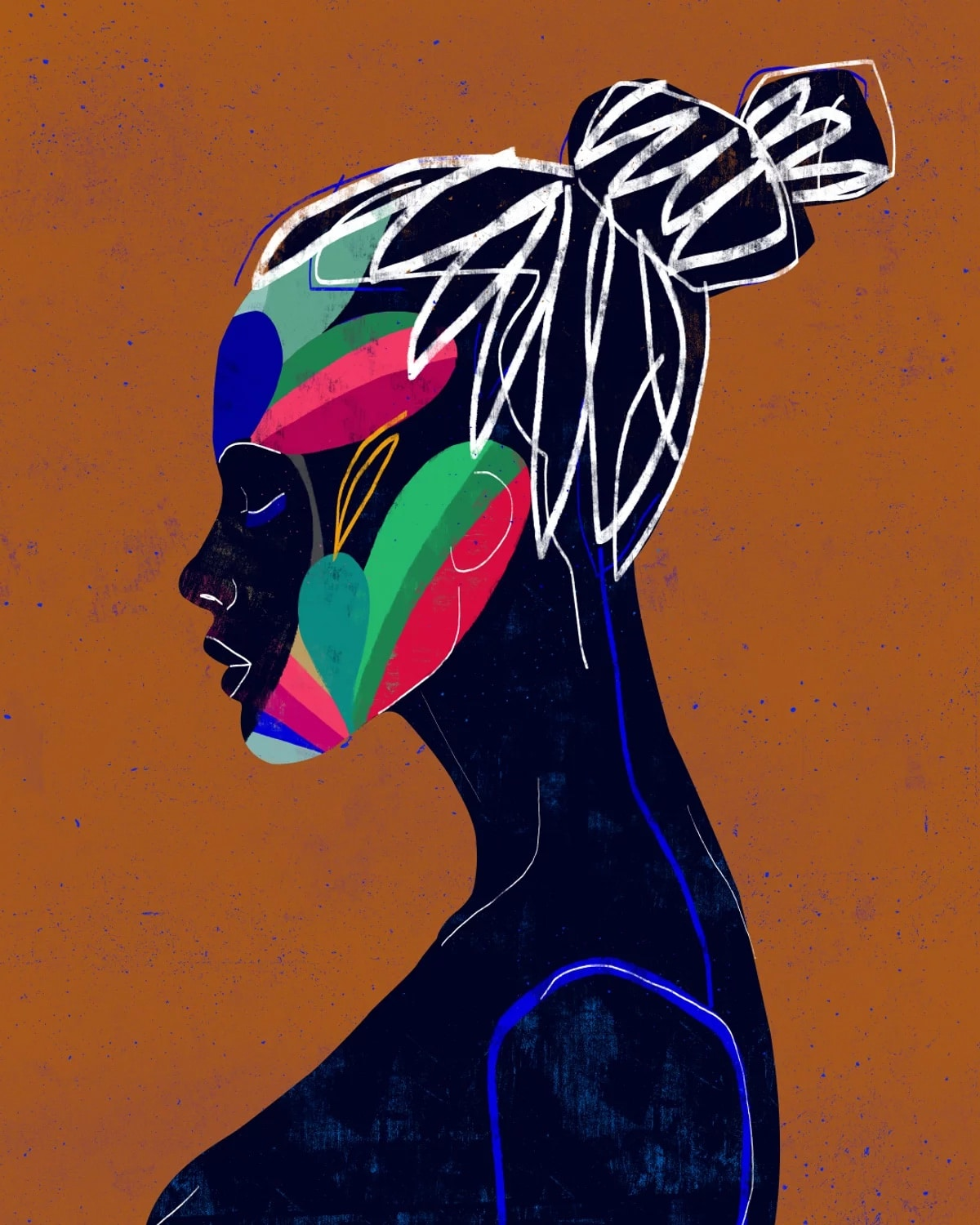Colorful Geometric Shapes and Line Graphic Art Prints by Luciano Cian