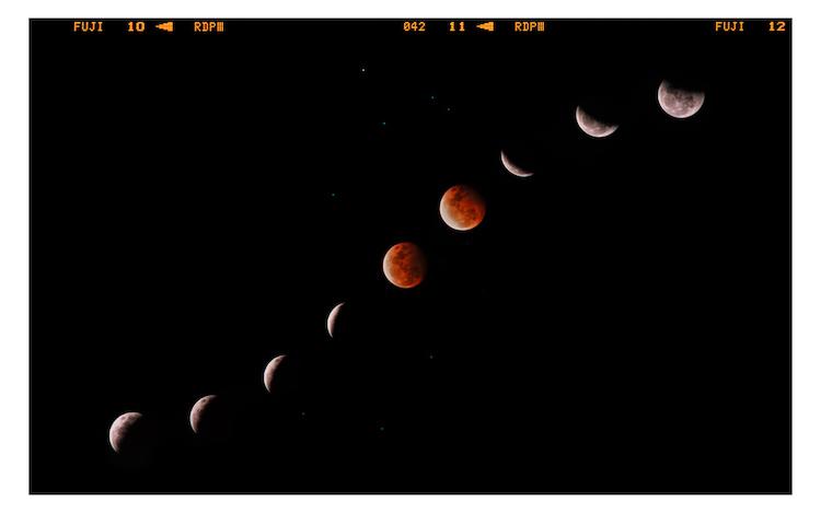 Lunar Eclipse Analog Astrophotography