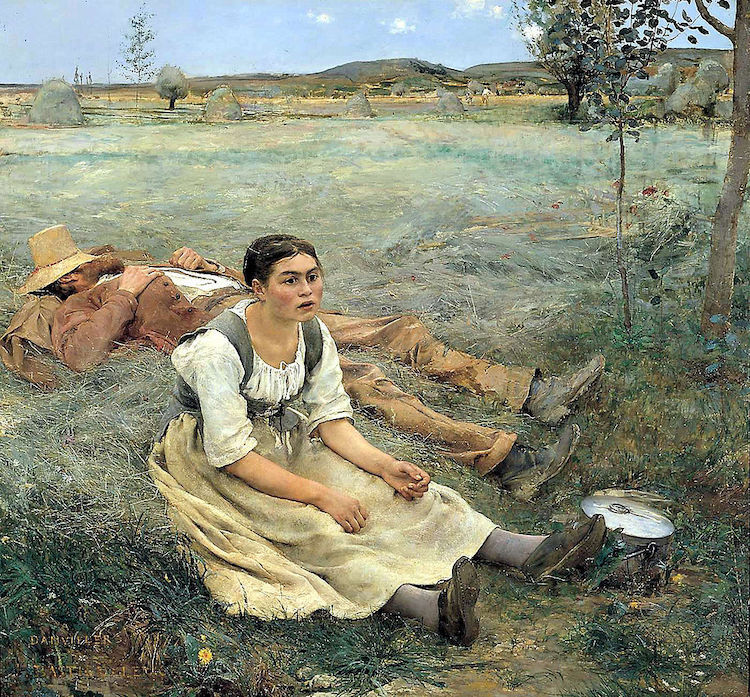 """Hay Making"" By Jules Bastien"