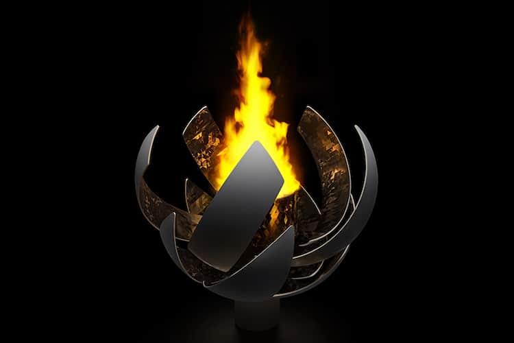 Hydrogen Fuel Burning Olympic Cauldron Designed by Nendo