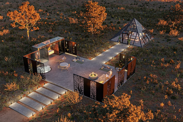 Aerial VIew of Nomad's Pad near the South Rim of the Grand Canyon